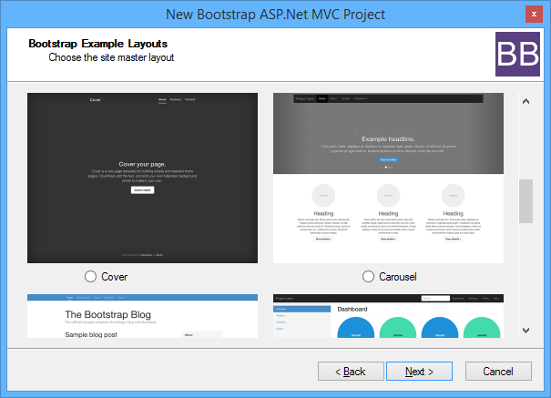 Introducing the bootstrap bundle for asp net mvc for Table design in mvc 4